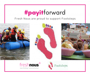 #payitforward | Footsteps - Charity Partnership